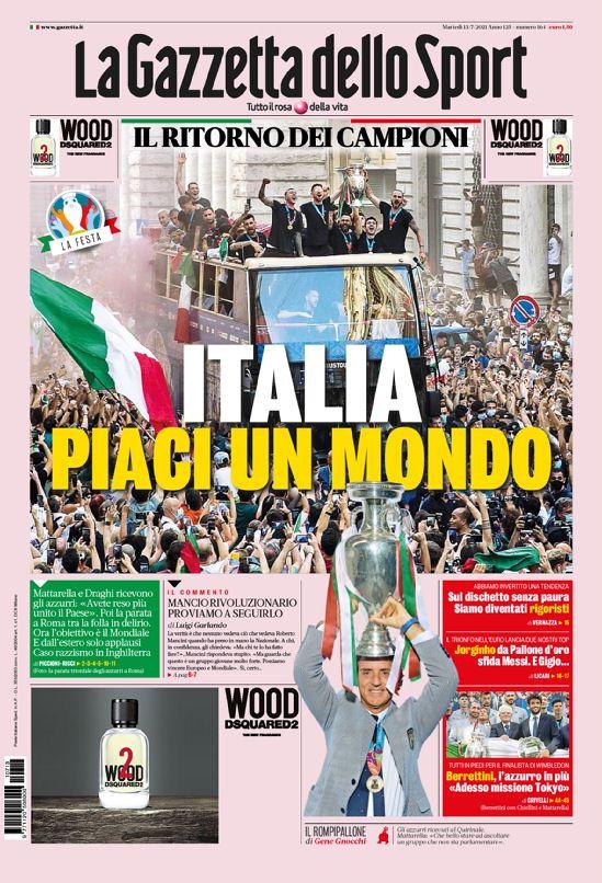 La Prima Pagina Della Gazzetta Dello Sport Del 21 07 2021