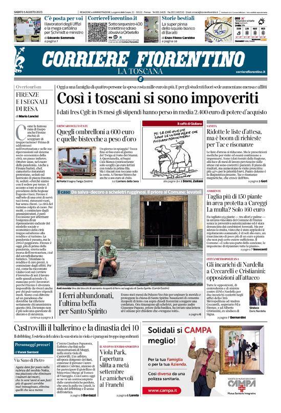 prima pagina corrierefiorentino